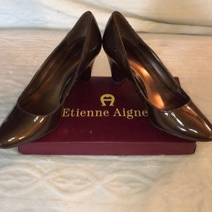 Etienne Aigner Haven Bronze Pumps Size 10